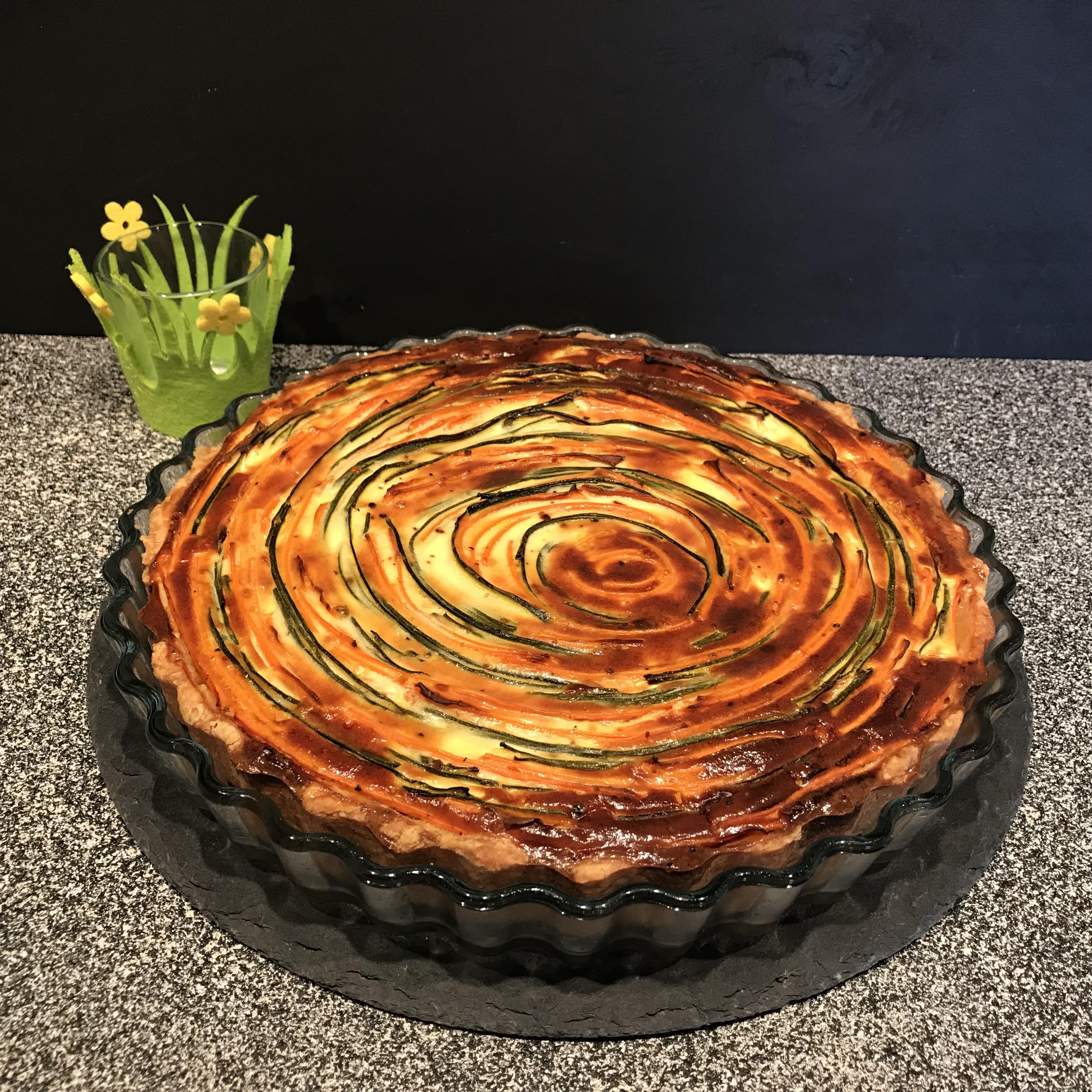 Gemüsequiche - Spiralquiche - Kathis Rezepte (1)