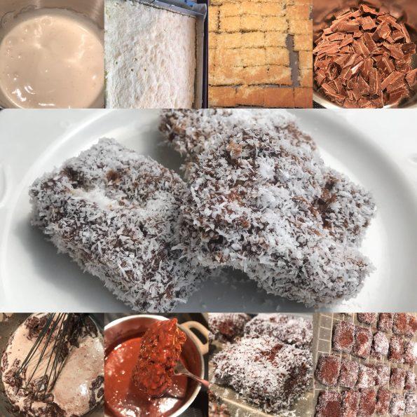 Kokoswürfel - Cupavci - Lamington - Kathis Rezepte (2)