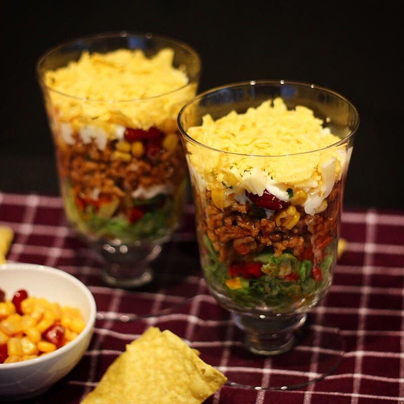 Nacho Salat - Mexikanischer Salat - Kathis Rezepte