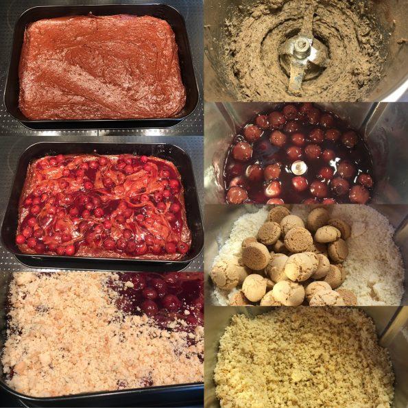 Schoko-Kirschkuchen mit Amarettini Streusel - Kathis Rezepte (1)