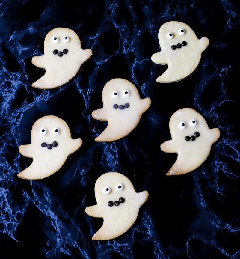 Halloween Kekse - Geister Kekse - Kathis Rezepte