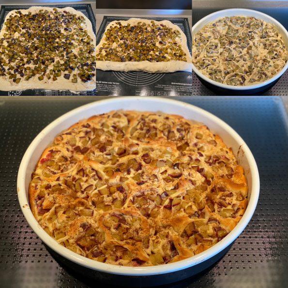 Rosenkuchen mit Zwetschgen und Marzipan - Kathis Rezepte (2)