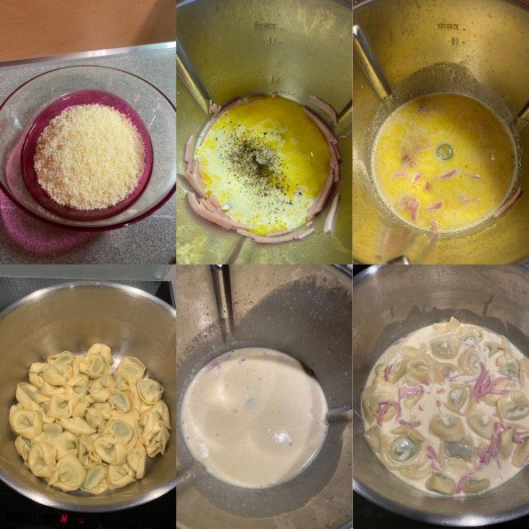 Tortellini alla Panna - Tortellini in Schinken-Sahne-Sauce - Kathis Rezepte (1)