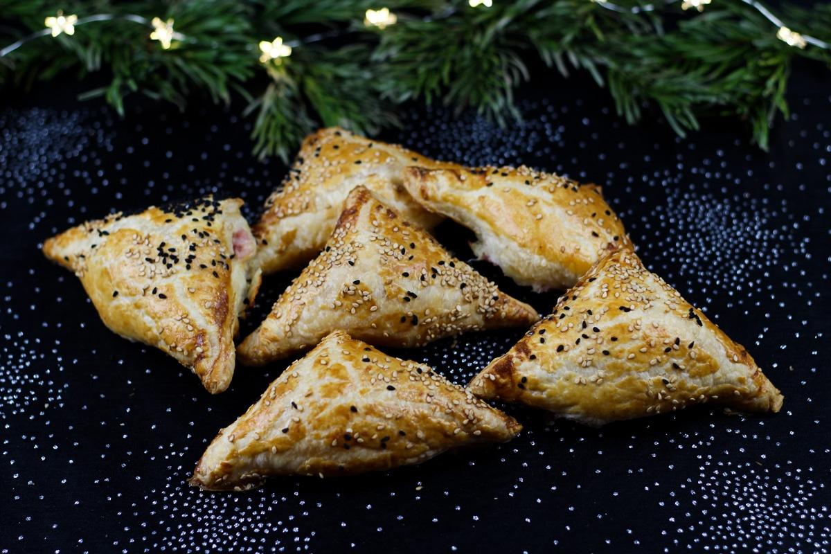 Blätterteigtaschen mit Schinken und Käse - Kathis Rezepte