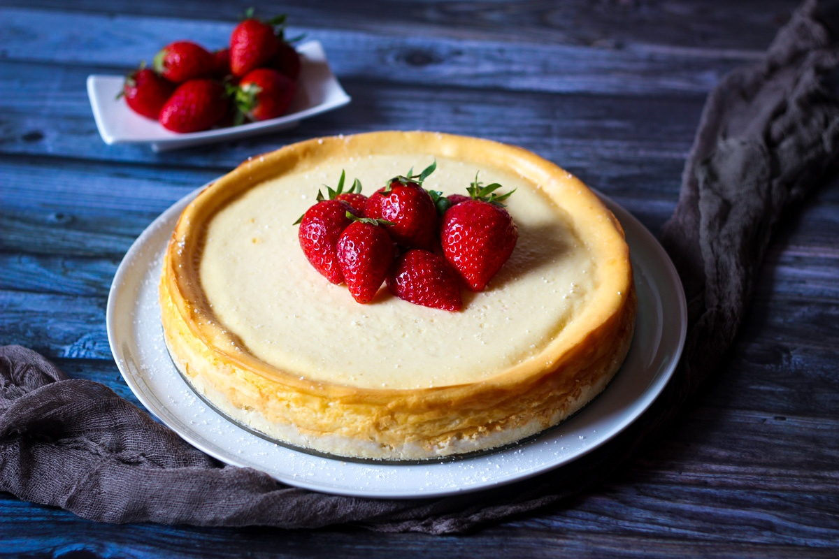 Käsekuchen - Cheesecake New York Style - Kathis Rezepte