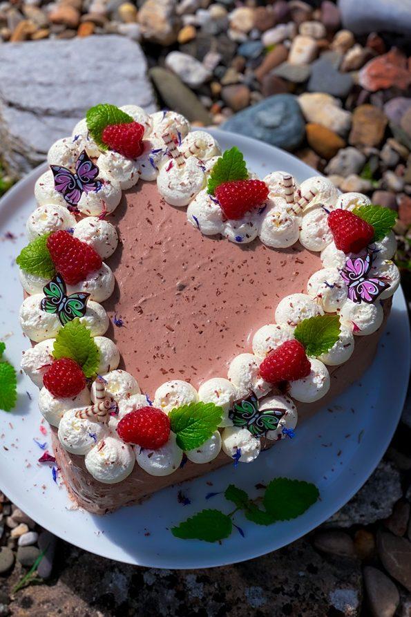 Schokoladentorte mit Mascarponecreme - Muttertagstorte.- Kathis Rezepte (1)