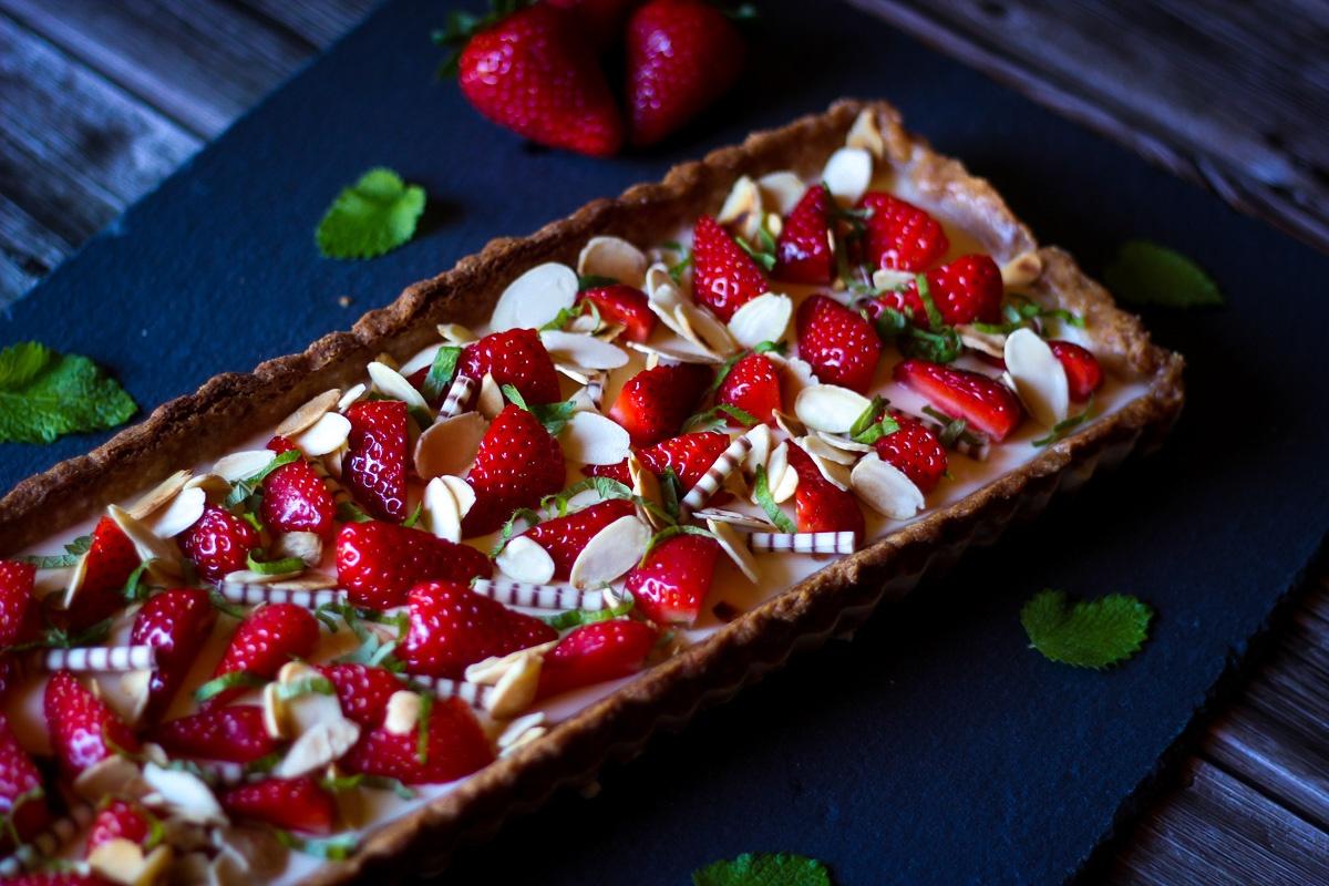 Erdbeer Panna Cotta Tarte - Kathis Rezepte